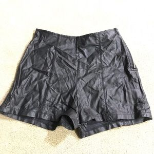 Brandy Melville Shorts - Brandy Melville faux leather high waisted shorts